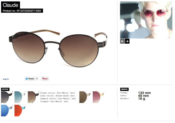 claude gunmetal lens brown sand