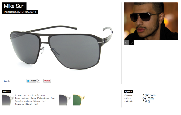 mike sun black lens grey polarized