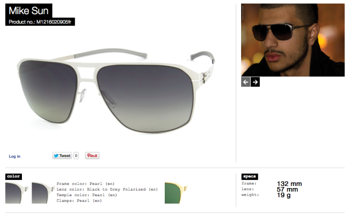 mike sun pearl black to grey polarized