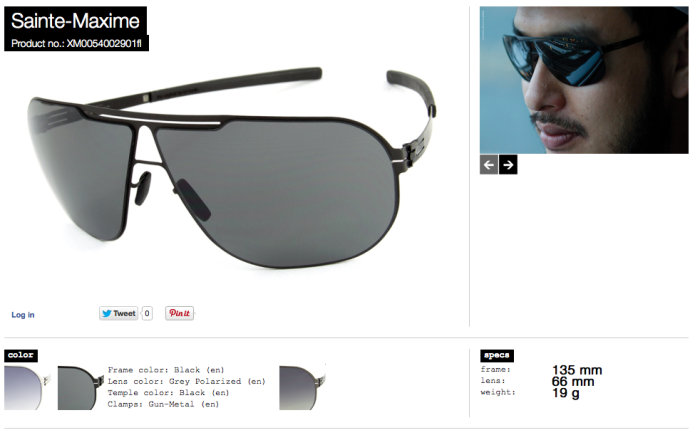 Sainte-Maxime black grey polarized